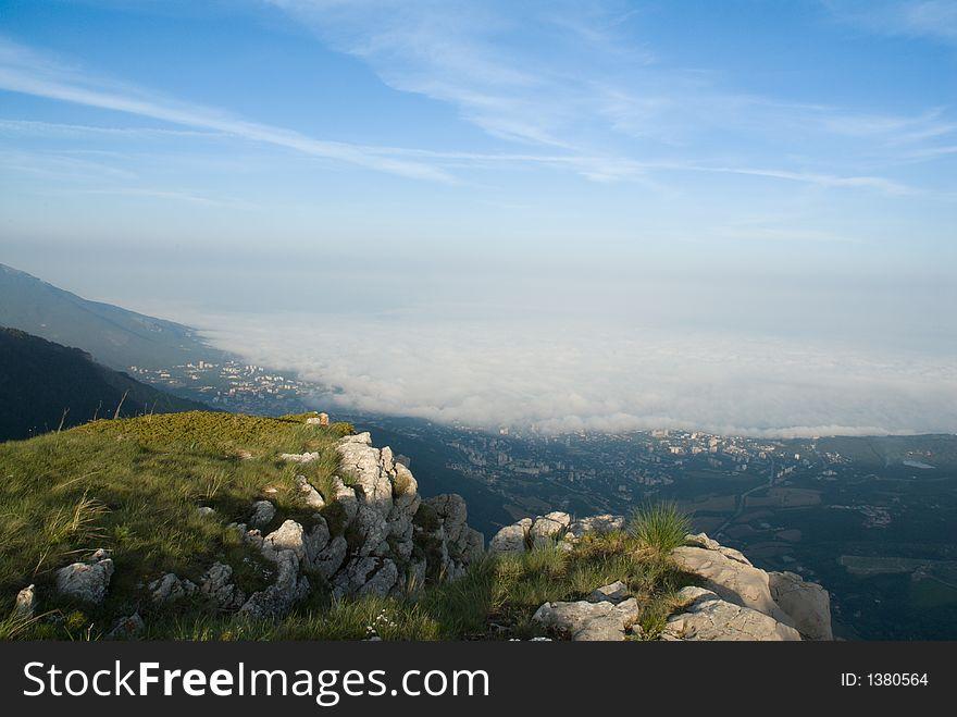 Yalta and tsunami like clouds