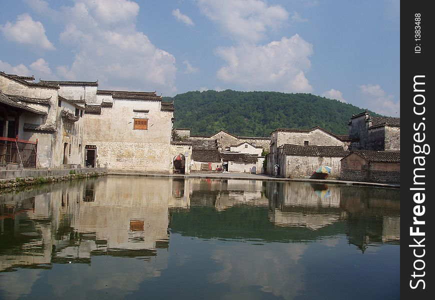 Ancient house in Hongcun in China