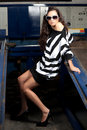 Free Fashion Shot In Auto Repair Shop. Stock Photography - 13800032