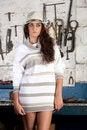 Free Fashion Shot In Auto Repair Shop. Royalty Free Stock Photo - 13800065