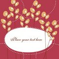 Free Cute Card Template Royalty Free Stock Image - 13800686