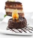 Free Dessert - Chocolate Iced Cake Stock Photos - 13801863
