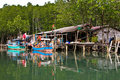 Free Houses Of Wood In A Small Fishermans Village Stock Image - 13804881