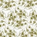 Free Flower Seamless Pattern Royalty Free Stock Photos - 13804918