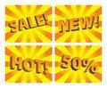 Free Sunburst Sale Tags Stock Photo - 13805610