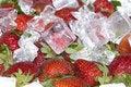 Free Strawberry With Ice Stock Photos - 13807863