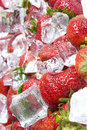 Free Strawberry With Ice Stock Images - 13807894