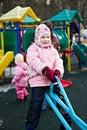 Free Little Girl On A Walk In Swing Royalty Free Stock Photo - 13809735
