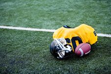Free American Football Equipment Stock Photography - 13800022