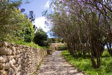 Free Mediterranean Park At Sea,with Footpath Stock Photos - 13800043