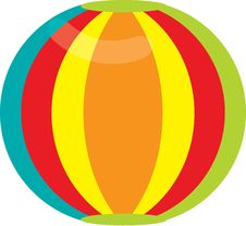 Free Beach Ball Royalty Free Stock Photo - 13800115