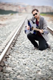 Free Musician Playing Royalty Free Stock Image - 13800166