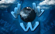 Free Www Around World Royalty Free Stock Image - 13800696