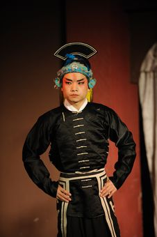 Free China Opera Actor With Hat Stock Photography - 13800762