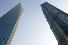 Free Highest Skyscrapers In Shanghai Stock Photography - 13800922