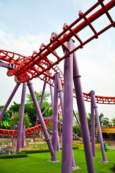 Free Roller Coaster Stock Photography - 13801002