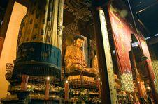 Shanghai - Inside Jade Buddha Temple Stock Image