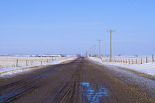 Free Country Road With Electric Poles Stock Photo - 13801170