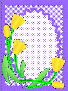 Vector Oval Border With Flowers And Copy Space Royalty Free Stock Images
