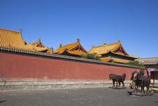 Monastery Yard Royalty Free Stock Photography