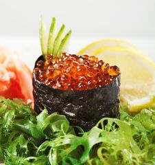 Free Ikura Sushi Royalty Free Stock Photos - 13801828