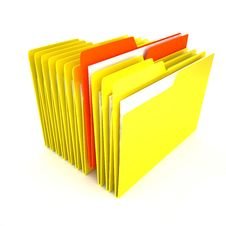 Free Folders Over White Background Stock Photography - 13802062