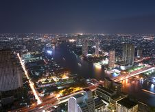 Bangkok From The State Building Stock Images