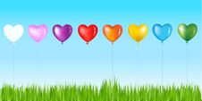 Free Row Of Colorful Heart Shape. Vector Stock Photo - 13802360