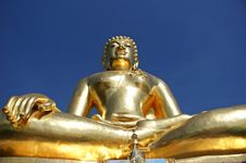 Golden Buddha At Golden Triangle Stock Photos