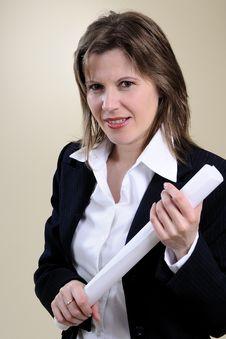 Successful Business Woman Portrait Stock Image