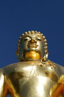 Golden Buddha At Golden Triangle Stock Photography