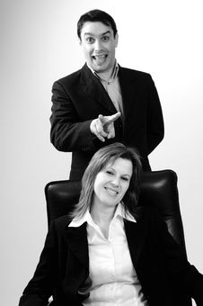 Free Manager And Business Woman Playing Royalty Free Stock Photo - 13802625
