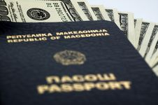 Free Passport With Money Stock Photography - 13803012