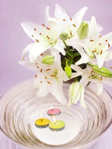 Free Spa Candles Flowers Stock Images - 13803254