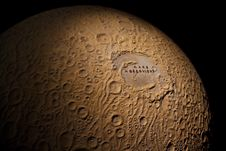 Free Moon Globe - A Model Of The Moon With Craters Stock Photo - 13803750