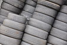 Free Used Tires Royalty Free Stock Photo - 13803885