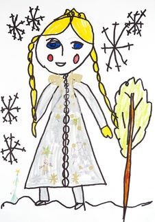 Free Snow Maiden In The Winter Forest Royalty Free Stock Image - 13804286