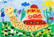 Free Cheery Yellow Snail Stock Photography - 13804462