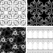 Set Of 4 Textures Royalty Free Stock Photos