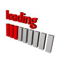 Free Loading Symbol 3d Stock Photography - 13804692