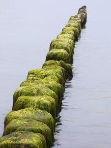 Free Sea. Breakwater Royalty Free Stock Photo - 13805225