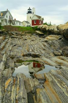 Reflection Of Pemaquid Point Stock Photos
