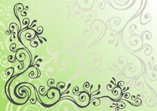 Free Black And Green Ornament Royalty Free Stock Image - 13805566