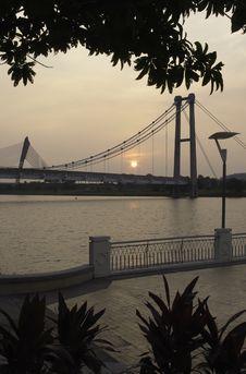 Free Bridge View At Sunset Stock Image - 13805981