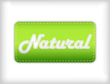 Free Natural Green Sticker. Royalty Free Stock Images - 13806109