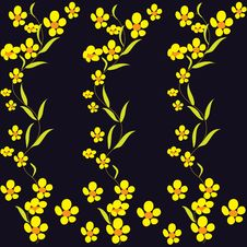 Free Black Background With Buttercups Stock Images - 13806284