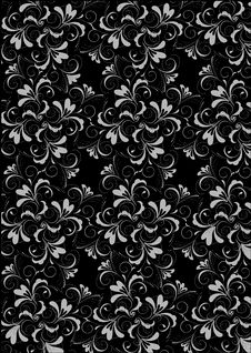 Free Black Flower Seamless Background Stock Image - 13806431