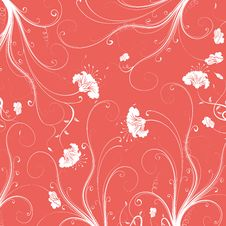 Free Seamless Flower Damask Pattern Royalty Free Stock Photography - 13806507