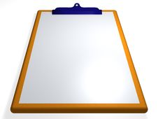 Free Clipboard - Textbox - 3D Royalty Free Stock Image - 13807016