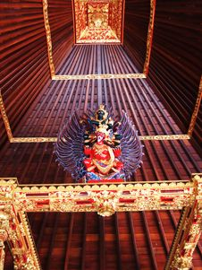 Traditional Balinese Ceiling And Ornament Royalty Free Stock Image